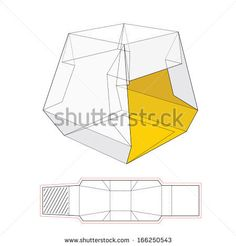 Presentation Tent Packaging Template Icon - stock vector