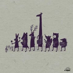 Musical animals illustration by Heng Swee Lim Art And Illustration, Illustration Mignonne, Gravure Illustration, Music Drawings, Music Pictures, Fanarts Anime, Music Wallpaper, Illustrators, Art Projects