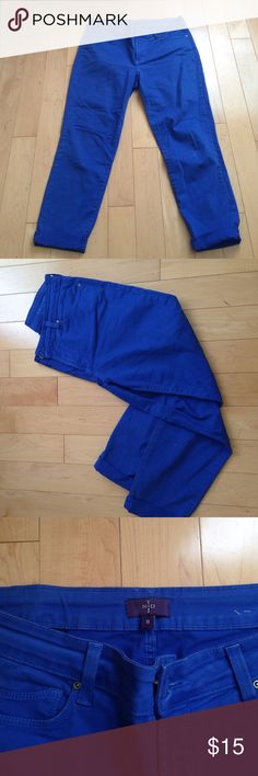 Royal Blue Jeans Super soft! They have been worn but are still in great condition. These fit like skinny jeans Jeans Skinny