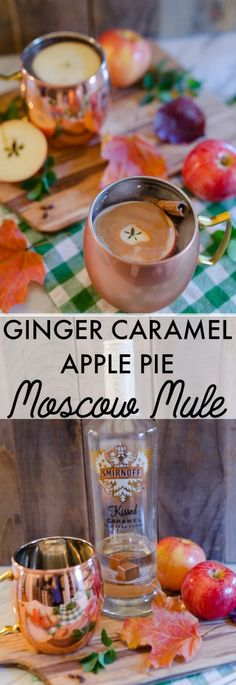 So yummy! Ginger Caramel Apple Pie Moscow Mule recipe