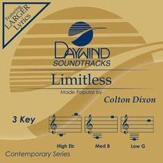 Limitless - Colton Dixon (Christian Accompaniment Tracks - daywind.com) | daywind.com