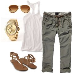 Summer casual- mainly love these capris!