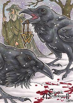 Huginn + Muninn - Molly Brewer by Pernastudios on deviantART Ravens are sacred to Odin