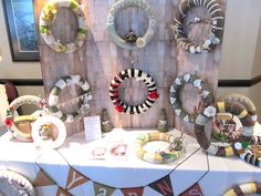 wreath craft booth