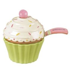 """Amazon.com: Grasslands Road Sweet Soiree 3-1/2-Inch by 4-1/2-Inch """"Sprinkles"""" Covered Cupcake Bowl with Spoon: Home & Kitchen"""