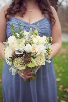 Matthew + Ali - Brooke Courtney Photography / Peach Cream Purple Green Wedding / Bridesmaid / Bouquet