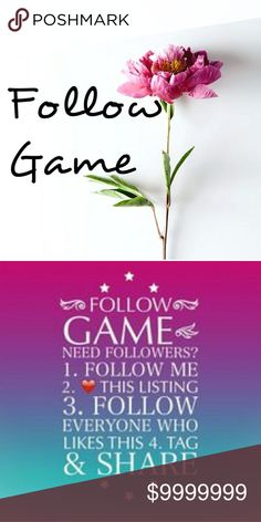 💖Follow Game💖 Let's grow together! Follow me and everyone who likes this post and tag your favorite poshers. I will follow back! Like, Share and Tag!! Let's grow together! Thank you! 😘😘💕💕💕💕 Accessories Hats