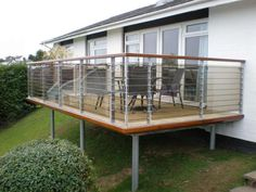 steel balcony with tinted glass