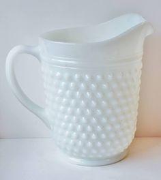 milk glass hobnail pitcher