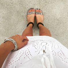 snakeskin sandals, e