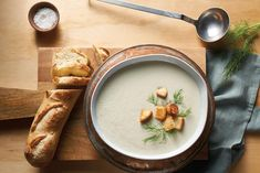 fennel soup with thyme crouton | Wolf Gourmet