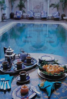 Brunch by the pool | Glamorous Living | ~LadyLuxury~