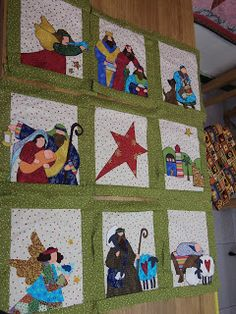 PASSIOONPATCH: TUTORIALES NAVIDEÑOS Christmas Patchwork, Christmas Sewing, Christmas Nativity, Christmas Art, Christmas Hacks, Christmas Projects, Free Applique Patterns, Winter Quilts, Quilting Projects