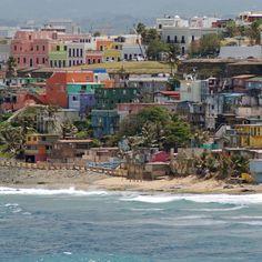 La Perla,  the 'sliums' of San Juan - San Juan, Puerto Rico, not far from the old graveyard. And to the back of La Perla... Old San Juan