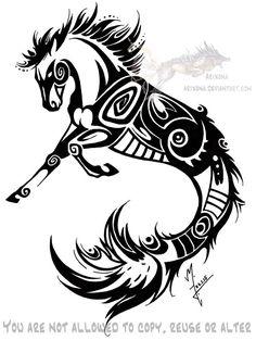 Tribal Hippocampus commission by Arixona.deviantart.com on @DeviantArt