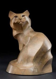 Rosetta's award-winning bronze sculptures of animals have been exhibited world-wide. Soapstone Carving, Wood Carving, Bronze Sculpture, Sculpture Art, Cat Statue, Art Folder, Art Carved, Contemporary Sculpture, Expositions