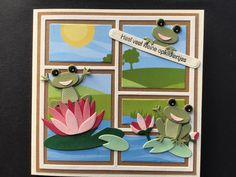 Greeting Cards Handmade, Frogs, Projects To Try, Scrapbooking, Ideas, Decor, Cards, Decoration, Scrapbooks