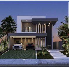 2 Storey House Design, Bungalow House Design, House Front Design, Small House Design, Best Modern House Design, Modern Exterior House Designs, House Architecture Styles, Modern House Facades, Model House Plan