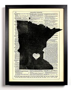 The heart would have to be moved but I like this idea.  And think of all the combos.  You could do one for every place you've lived and the backing could be anything.  Even phone book pages from that place!