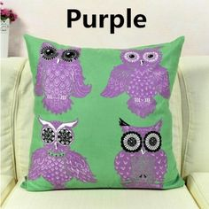 Owl decorative pillow for Couch Colorful Animal cushions