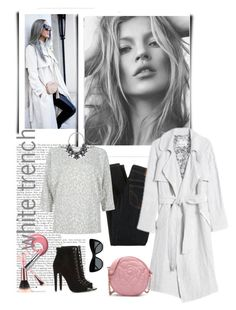 """White Trench"" by mk-style ❤ liked on Polyvore featuring D&G, Rebecca Taylor, STELLA McCARTNEY and River Island"