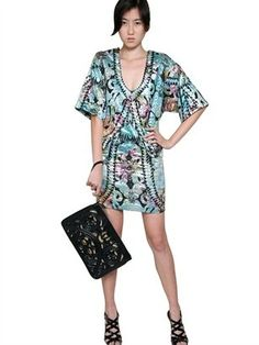 Jacquard Kimono Style Dress Gaetano Navarra