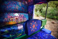 Last year, we were enamored with the creativity of Taxi Fabric, a project that has transformed Mumbai's many taxis into mobile works of colorful art. Nasheet Shadani is one of the latest designers to collaborate with the Taxi Fabric team, applying a similarly vibrant touch to an auto rickshaw in Delhi. His eye-catching illustration cloaks the interior—including its seating, ceiling, and side panels—in a brilliant van Gogh-inspired scene. Shadani channeled the iconic Starry Night painting…