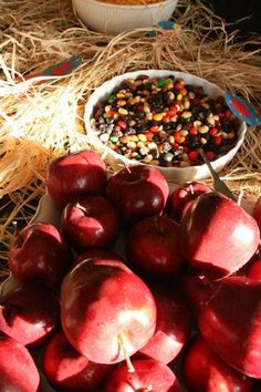 apples, carrots and trail mix for horse lovers