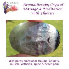 Visit www.outoftheearth.com to see Fluorite in all shapes and sizes. Free Aromatherapy Massage Blend & Self-Massage Instructions with every Healing Crystal! Tell everyone about it! Self Massage, Nerve Pain, Healing Crystals, Arthritis, Trauma, Aromatherapy, Anxiety, Shapes, Free