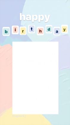 Happy Birthday Template, Happy Birthday Posters, Happy Birthday Frame, Happy Birthday Wallpaper, Birthday Posts, Birthday Captions Instagram, Birthday Post Instagram, Instagram Editing Apps, Instagram Frame Template