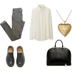 Без названия #5 by alisa-mironova on Polyvore featuring мода, Uniqlo, Topshop, Dr. Martens and Louis Vuitton