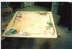Jessica Rose Paints: Hand Painted Children's Antique Toys Table and Chairs