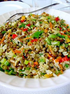 Green Lentil Salad from My Turkish Kitchen Green Lentil Salad, Green Lentils, Veggie Dishes, Vegetable Recipes, Food Dishes, Healthy Eating Recipes, Cooking Recipes, Turkish Kitchen, Shellfish Recipes