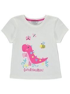 Dinosaur Slogan Embroidered T-shirt, read reviews and buy online at George at ASDA. Shop from our latest range in Kids. Cuteasaurus is the name and being cut...