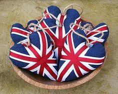 Union Jack hearts .valentine's day, christmas ornament