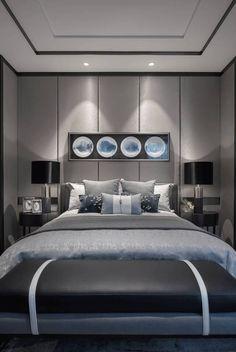 Magical Bedroom, Home Bedroom, Luxury Bedroom Design, Luxury Interior, Living Room Designs, Living Room Decor, Bedroom Ceiling, Apartment Interior Design, Contemporary Interior Design