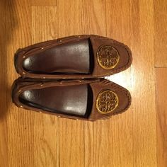 """Tory Burch Moccasins """"Alexandra"""" in toffee suede. Tory Burch moccasins in excellent condition.  Barely worn. Tory Burch Shoes Moccasins"""