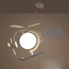 Modern Wooden Cartoon Pendant Light Creative Airplane Children Kids Room Bedroom Pendant Light Fixtures