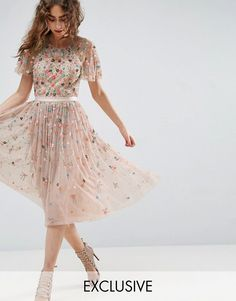 Needle and Thread Starburst Embellished Midi Dress