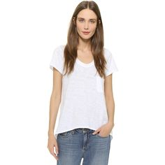 Wilt Vintage Slouchy V Neck Tee ($95) ❤ liked on Polyvore featuring tops, t-shirts, white, white tee, drapey tee, white t shirt, v neck t shirts i vintage v neck t shirts
