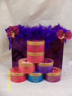 Purple Custom Made to Order Gift Bag Victoria's Secret 7 Body Butter 6.5 oz ea   Check our Ebay Store:  http://stores.shop.ebay.com/TopDesignersJeans4U