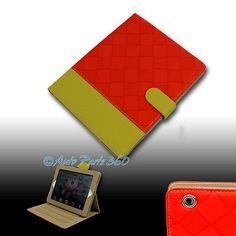 CASE COVER POUCH STAND WAKE/SLEEP PU LEATHER RED/YELLOW FOR NEW APPLE IPAD MINI