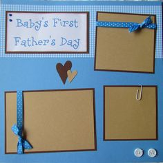 BABY'S first FATHER'S DAY baby boy 12x12 Premade by JourneysOfJoy
