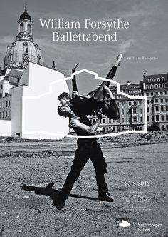 Semperoper Ballett. Fons Hickmann m23 designed a posterseries for the the Semperoper Ballet.