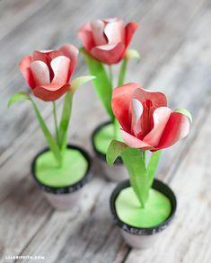 Make a Few Watercolor Paper Tulips