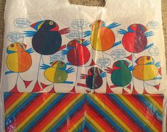 Puffin carrier bag. Jill Mcdonald, Word Pictures, Penguin Books, Vintage Children's Books, Penguins, Childrens Books, Book Art, Nostalgia, Retro