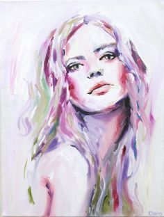 Portrait Woman Painting Fine Art Print // Desire by KatieJobling, £21.99
