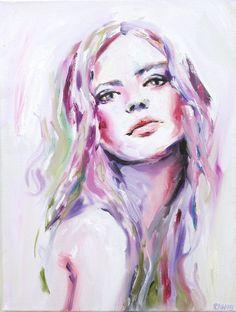 Portrait Woman Painting Fine Art Print // Desire by KatieJobling, £21.99