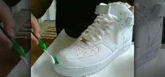 How to Clean a pair of white Nike Air Force Ones « Housekeeping