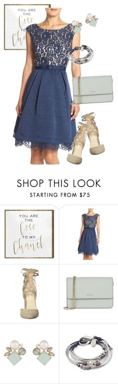 """dress"" by masayuki4499 ❤ liked on Polyvore featuring Oliver Gal Artist Co., Eliza J, Ivanka Trump, DKNY, Atelier Mon and Lizzy James"